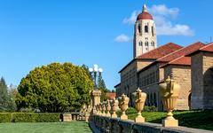 斯坦福大学校园风景片